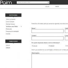 Formulário de solicitação de visita