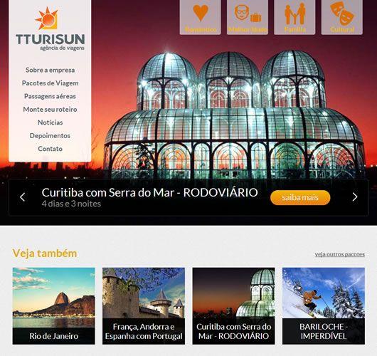 Print do projeto TTurisun - Agência de viagens