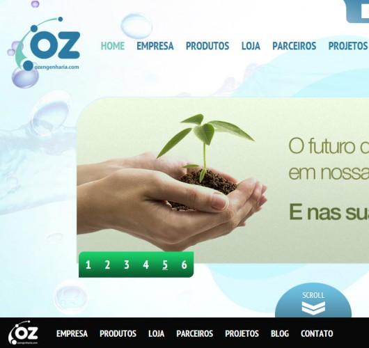 Print do projeto OZ Engenharia