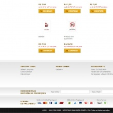 Rodapé - com newsletter e formas de pagamento