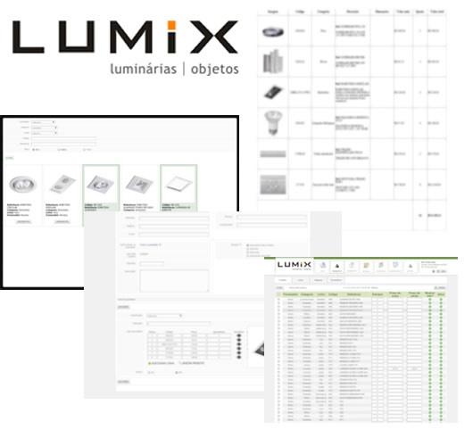 Print do projeto Lumix Luminárias - Sistema de orçamentos