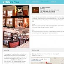 Informações sobre restaurantes