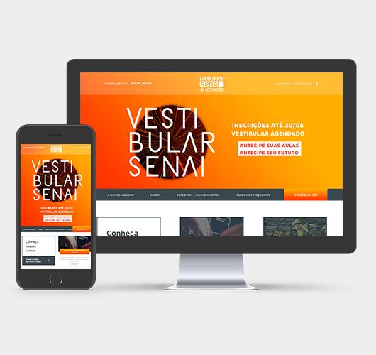 Print do projeto SENAI - Vestibular de Inverno 2017